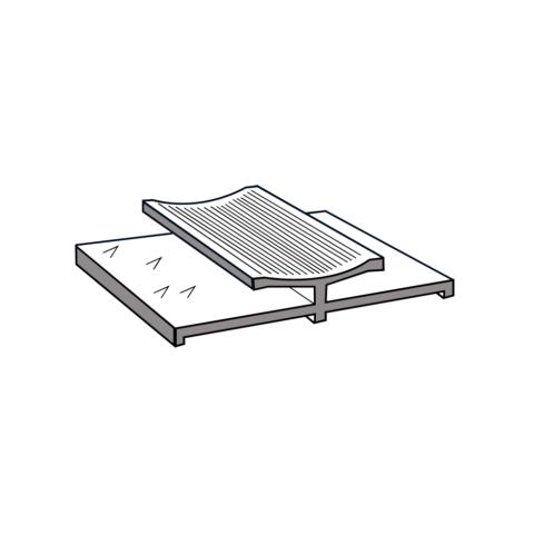 Silver Double Door Bar 0.90m (3ft)