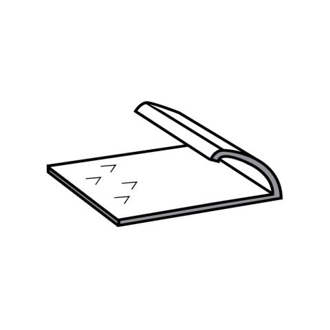 Silver Single Door Bar 0.90m (3ft)